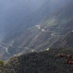 Abra Malaga Pass Downhill Strasse