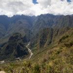 Sicht von Machu Picchu nach Aguas Calientes