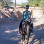 Ramona auf dem Pferd