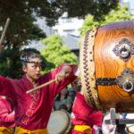 Traditionelle Taiko Vorführung