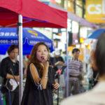 Karaoke mitten auf der Strasse