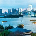 Panorama von Odaiba aus