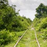 .. laufen auf ehemaligen Eisenbahnschienen